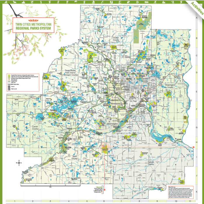 map of the twin cities regional parks system